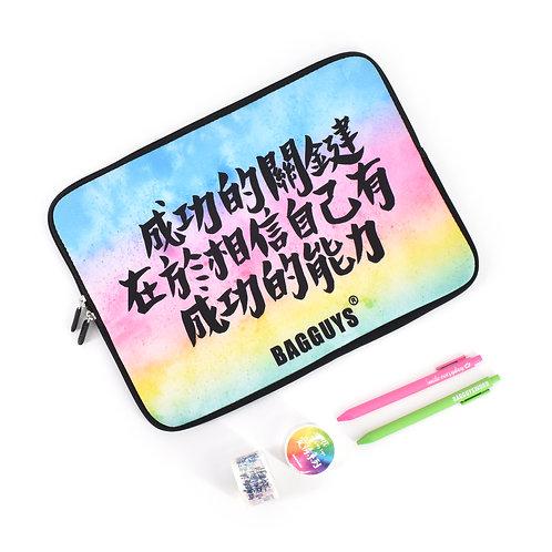 """""""自訂手寫中文字""""潛水布電腦袋"""