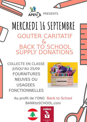 APENDL BACK TO SCHOOL SUPPLY DRIVE poste