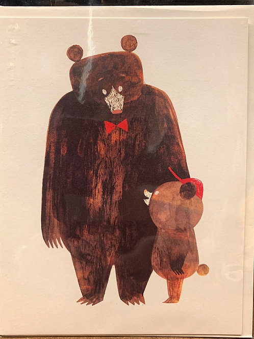 Bear & Cub Father's Day card
