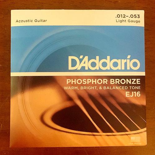 D'Addario Acoustic Guitar Phosphor Bronze EJ16