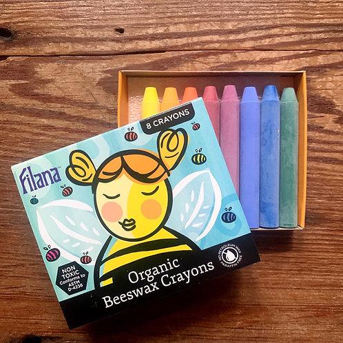 Filana Organic Beeswax Crayons - set of 8