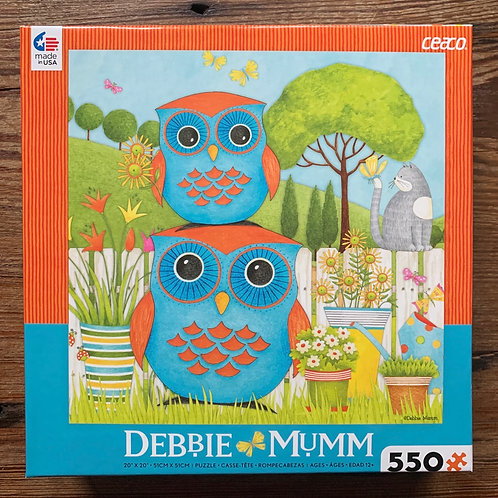 Cute Owls in Field 550 piece puzzle
