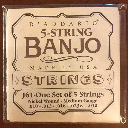 D'Addario 5-String Banjo Strings