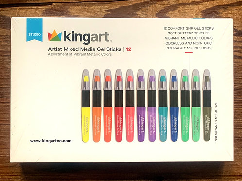 Kingart Mixed Media Gel Sticks - set of 12