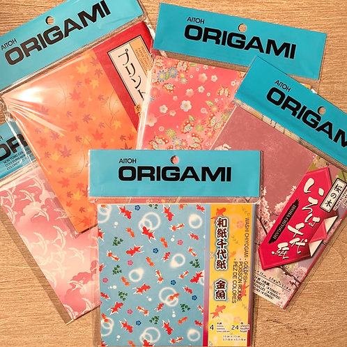 Origami paper - assorted
