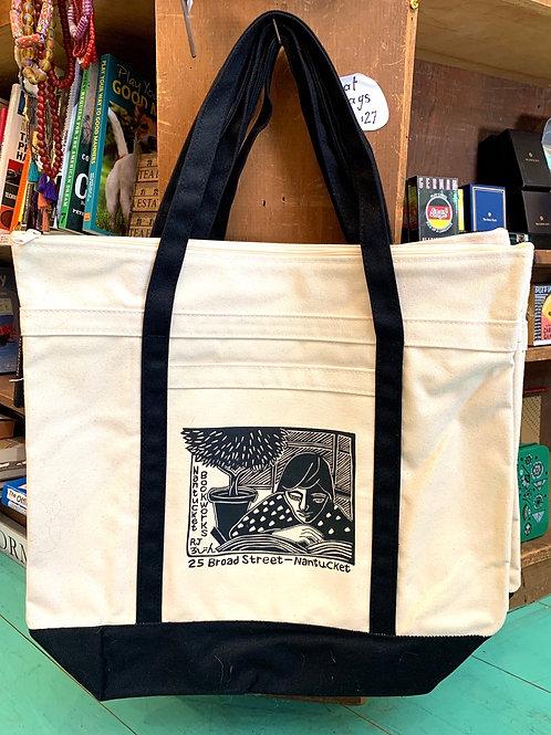 Bookworks Boat Bag with zip top