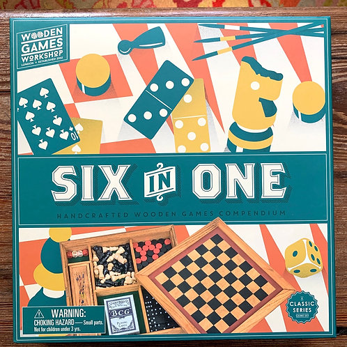Six in One Wooden Game Set
