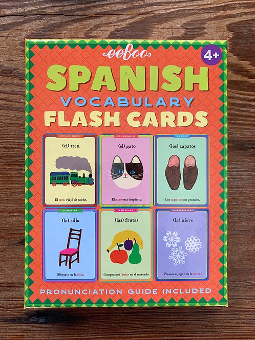 Eeboo Spanish Vocabulary Flash Cards