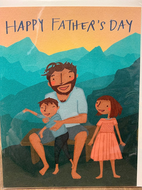 Mountain dad Father's Day card