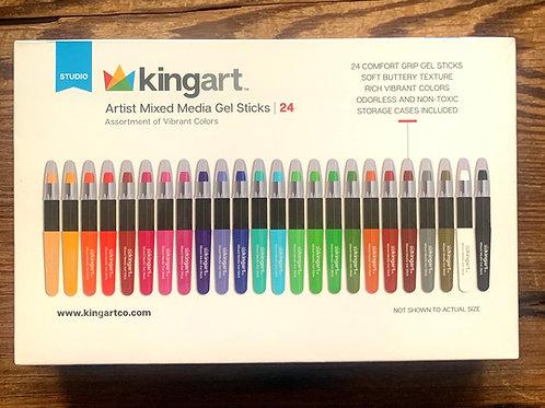 Kingart Mixed Media Gel Sticks - set of 24