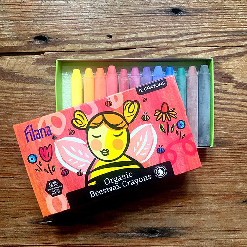 Filana Organic Beeswax Crayons - set of 12