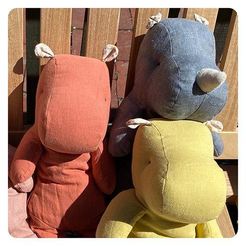 Maileg Medium Hippo  & Rhino Friends