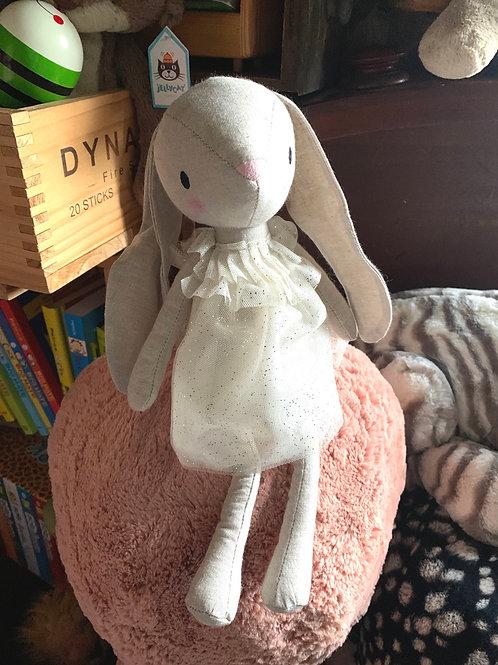 """Jellycat Jolie Bunny in lovely dress 10"""""""