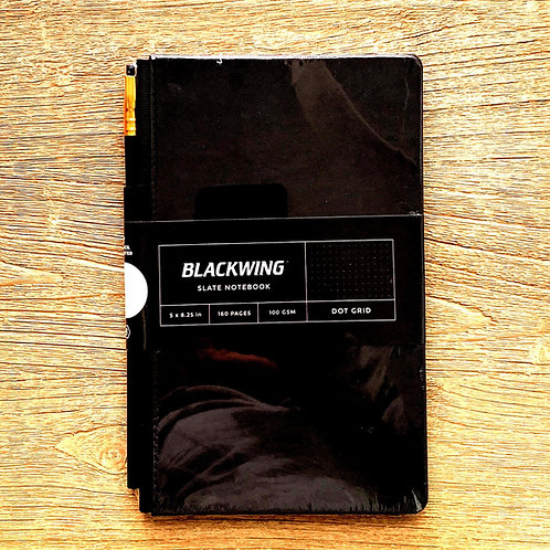 """Blackwing 5"""" x 8"""" journal with pencil holster & elastic band"""