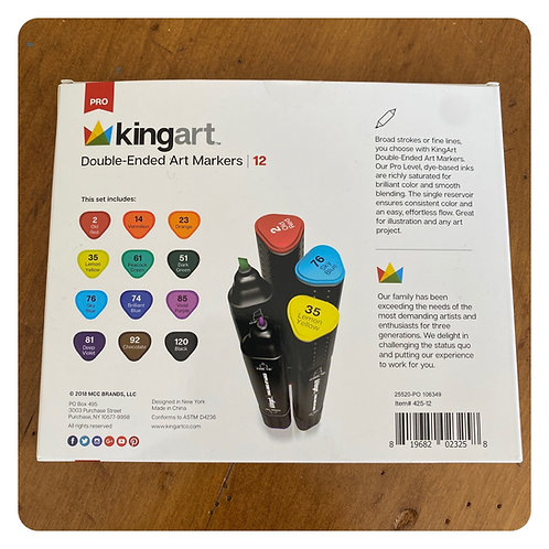Kingart Double Ended Markers