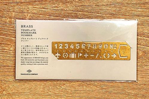 Cool Japanese Brass Template Bookmark
