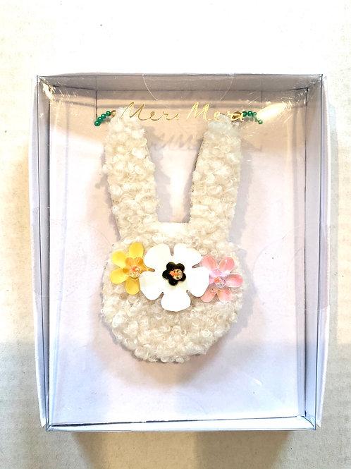 Fluffy Bunny Ear Necklace
