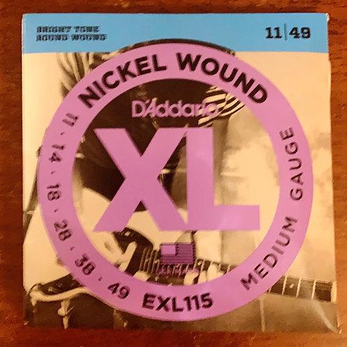 D'Addario XL Nickel Wound EXL115 Medium Gauge