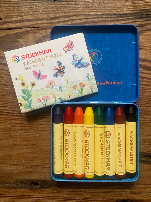 Stockmar European wax crayons - set of 8