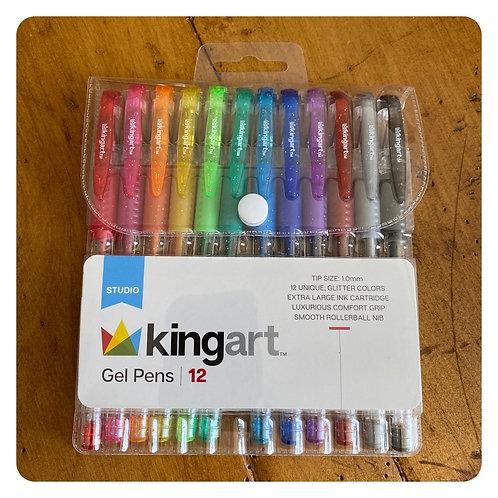 Kingart Gel Pens 12