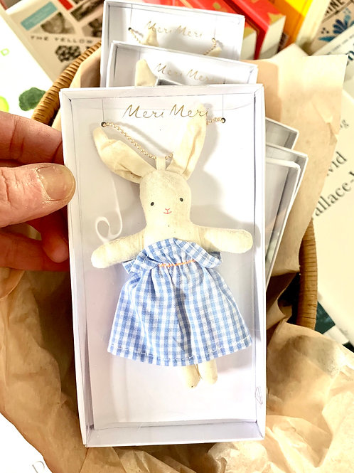 Bunny in Gingham Necklace