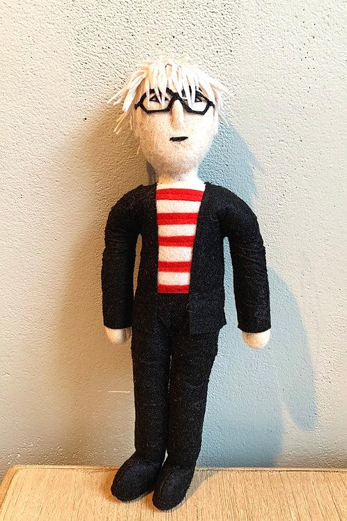 "Andy Warhol 12"" Felt Figure"