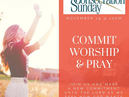 Consecration Sunday