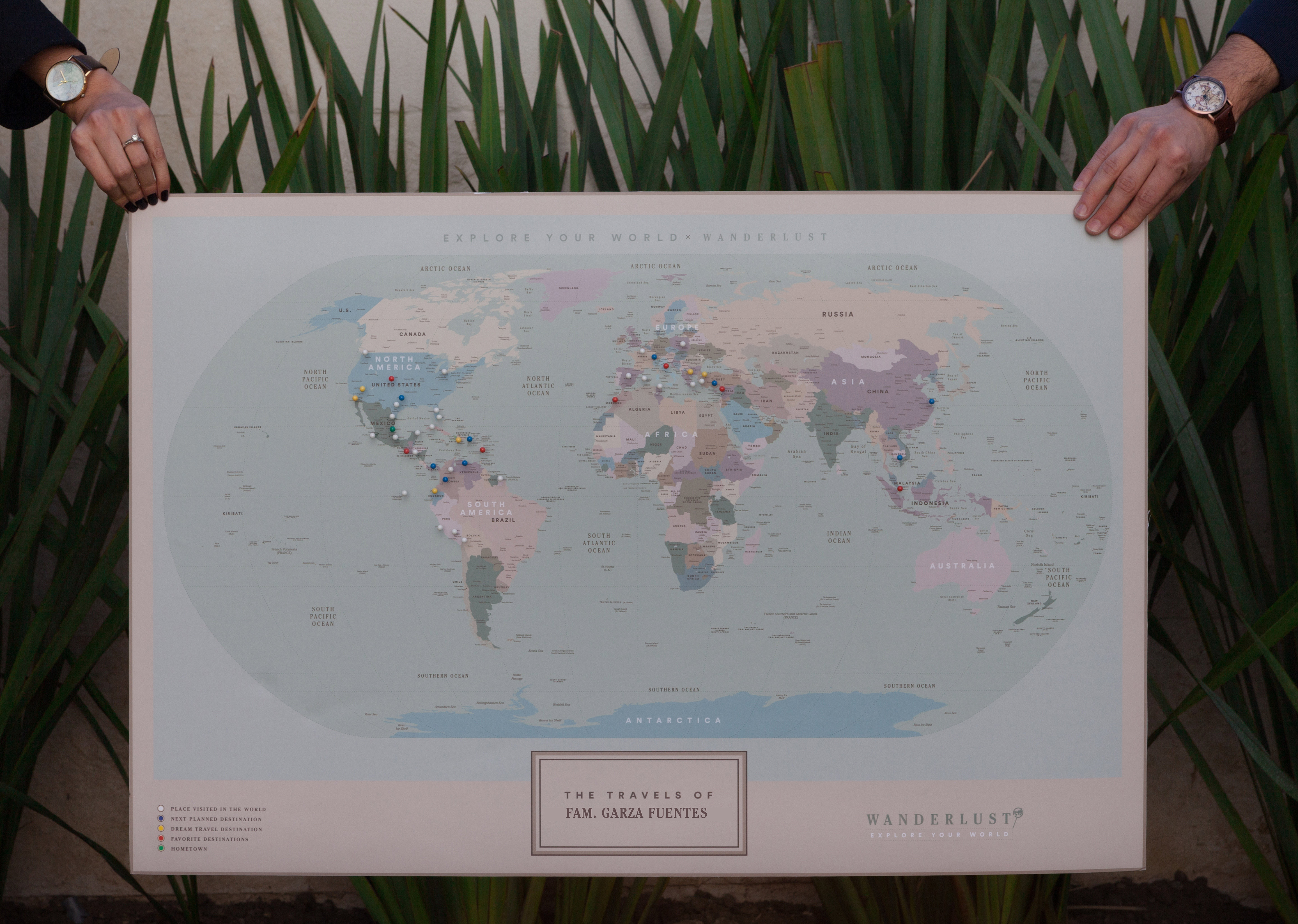 Wanderlust Maps Explore your World – Family World Travel Map