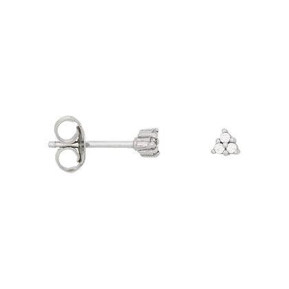 Triangle zirconia earrings in sterling silver