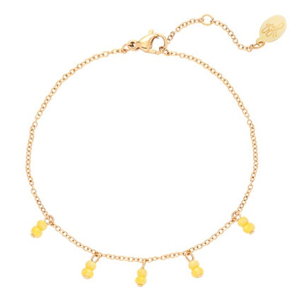 Bracelet swirl yellow
