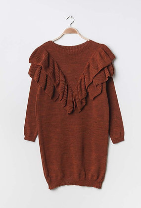 Mila knit dress brown