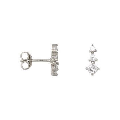 Zirconia cone earrings in sterling silver
