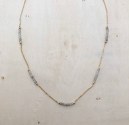 Grey & gold necklace