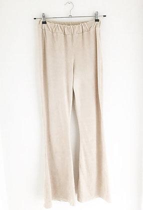 Beige flared pants