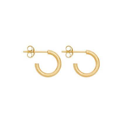 Midi hoops 12mm in gold plated sterling silver