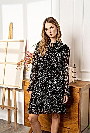 Lulu's & Jo - Heart dress black