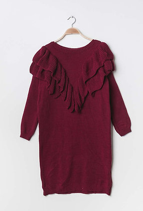 Mila knit dress bordeaux