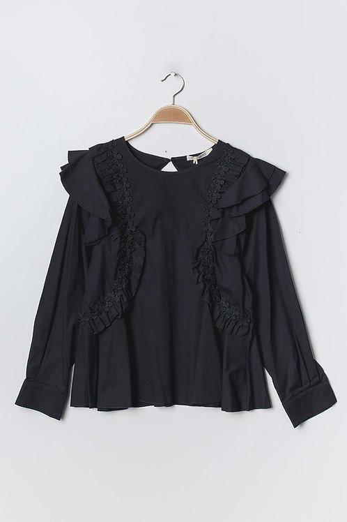 Boho blouse black