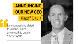 Announcing Impact Investor Geoff Davis as our CEO