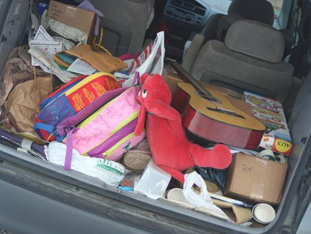 Father of Six Finds Seat in His Car