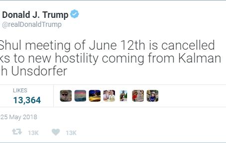 Trump Cancels Shul Board Meeting