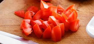Piece of Tomato Too Big For Israeli Salad