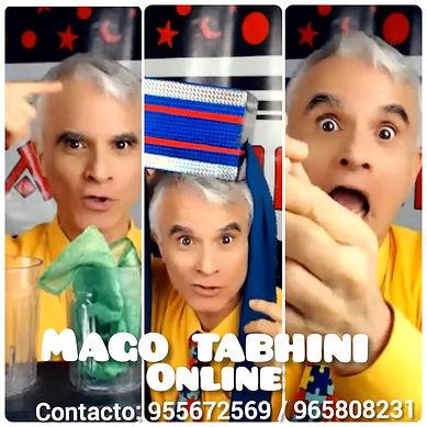 Show virtual de magia, show virtual interactivo para niños, show de magia online, show de magia virtual para adultos, show de magia virtual para empresas, Mago Tabhini