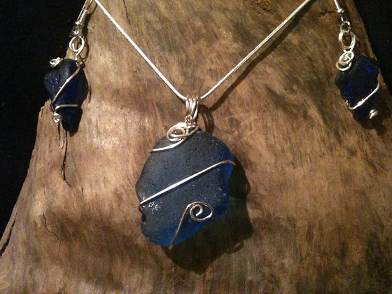 Cobalt Sea Glass - LRSGJ58