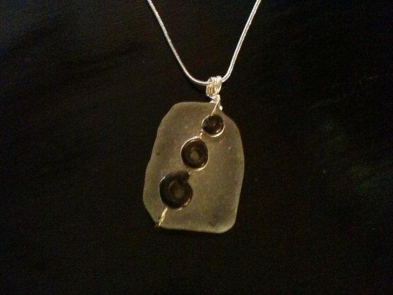White Sea Glass, Ammonite - Ian Gill
