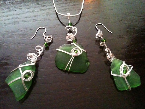 Green Sea Glass - LRSGJ322