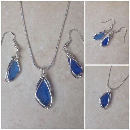 Blue Sea Glass - LRSGJ617