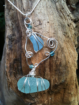 Aqua Sea Glass - LRSGJ121