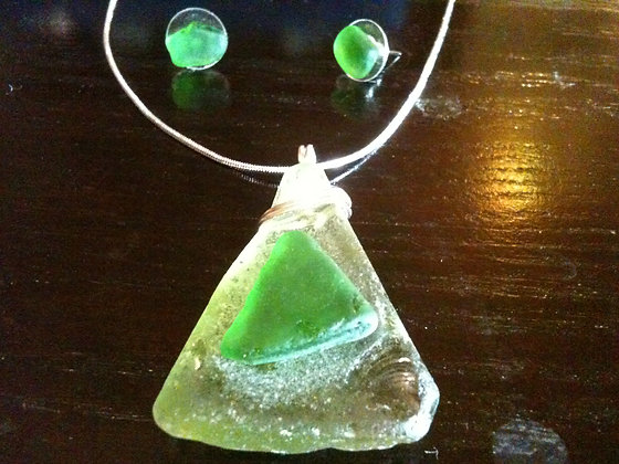 Green Sea Glass - LRSGJ364