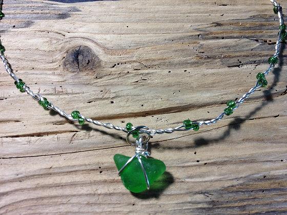 Green Sea Glass - LRSGJ463